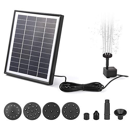 ANSGEC Solar Springbrunnen Solar Teichpumpe Solar Wasserpumpe Solar schwimmender Fontäne Pumpe Solar Teichpumpe (6.5W)
