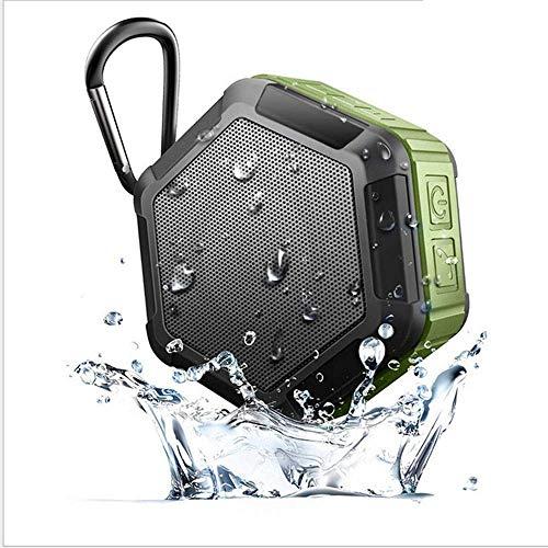 Felaaca Llamar Altavoz Bluetooth Impermeable al Aire Libre IP65 Altavoz estéreo portátil a Prueba de Agua Mini subwoofer Teléfono Manos Libres Tour/SP Ubicación/Audio inalámbrico para Exteriores