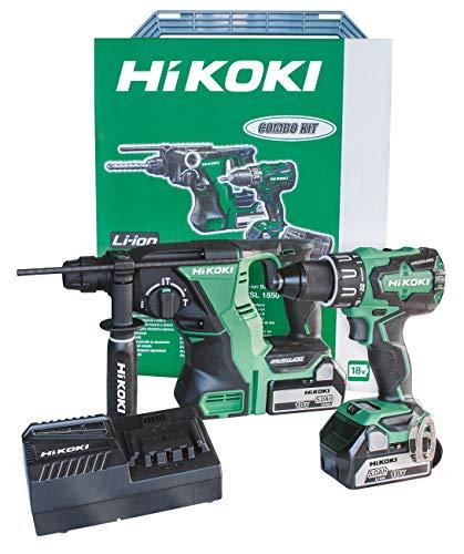 HiKOKI KC18DRBLWC Kit DV18DBSL + DH18DBL + 2 accu's 18V 5Ah + UC18YFSL + stapbare koffer 18V