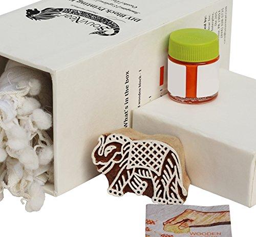 SouvNear Decor Block Printing Kit, Elephant