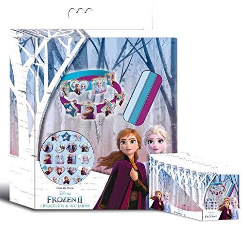 Disney Frozen- Caja 3 Pulseras 2, Multicolor (Kids WD20770)