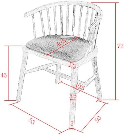 HXF- Chaise à Manger en Bois Massif Chaise rétro Durable (Color : D) D