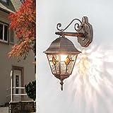 Applique vintage Salzburg elegante color rame antico in stile Tiffany E27 H:32 cm arredamento e illuminazione da esterno per giardino terrazzo