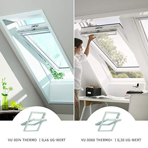 VELUX Dachfenster Schwingfenster Kunststoff Austauschfenster I VU0074 Thermo I Y21/021 I 55x84 cm