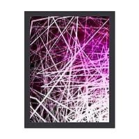 INOV 積み上げボックス紫 インテリア絵画 壁 絵画 ベッドルーム 木枠付きの完成品 プレゼントに 芸術の絵画 軽くて取り付けやすい(木枠付30x40cm)