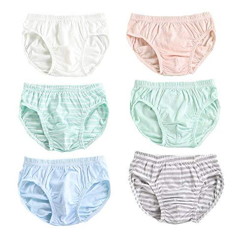 Mädchen Unterhosen Slips Baumwollene, Unterwäsche Für Kleine Mädschen, Höschen 2-12 Jahre (6 Packung) (Grün,4-5 Jahre alt)