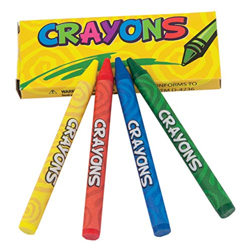 Giggle Time Large Crayons (36) Pieces | 4 Pieces Per Pack | Crayons Pack | Bulk Large Crayons as Kids Party Favors