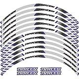 12 x borde de grueso Etiqueta exterior Etiqueta de rotura de rotura de la raya de las calcomanías de la rueda Fit Yamaha TRACER 700 900 850 MT07 MT09 MT-07 MT-09 (Color : Blue2)