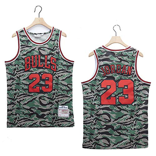 TPPHD Jerseys de Baloncesto de los Hombres, NBA Chicago Bulls # 23 Michael Jordan Classic Swordman Jersey, Tela Respiradora Fresca Vintage All-Star Unisex Fan Uniforme,XXL