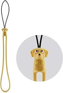 Multi-Purpose Hand Wrist Strap with Cute Animal Cartoon Phone Charm Elastic Silicone Lanyard Bracelet for Cell Phone iPhone Case ID Holder Name Badge Keys Keychain USB Flash Drive - Dog