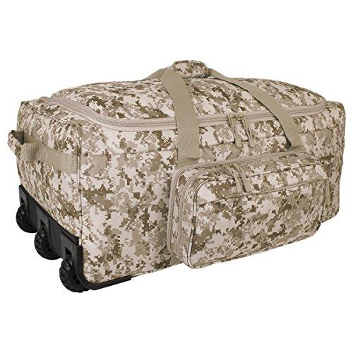 Mercury Tactical Gear Mini Monster Bag DDGC Rolling Duffel, Digital Desert Camo, 32.5 x 17.75 x 12 Inches