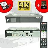 GigaBlue Ultra UHD UE 4K HYBRID LINUX Enigma2 HEVC H.265 2x DVB-S2 FBC Tuner (Twin) + 1TB 2,5 Zoll Festplatte + 150Mbit WLAN Stick NA-DIGITAL