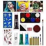 SOOFUN Halloween Makeup, Halloween Makeup Kit, Halloween Face Paint Makeup, Zombie Makeup, Vampire Makeup, Halloween Carnival Makeup for Kids, Special Effect Makeup Set
