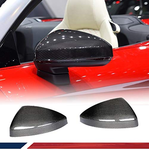 JC SPORTLINE Carbon Fiber Mirror Covers fits for Audi TT MK3 Type 8S Coupe 2015-2019 2PCS Side Replacement Mirror Cover Cap Factory Outlet(With Side Lane Assist)