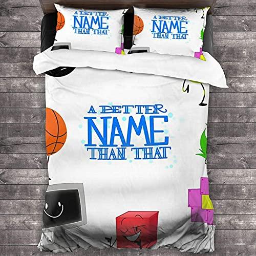 A Better Name Than That Juego de cama de 3 piezas de 86 pulgadas x 70 pulgadas súper suave y cálido, juego de cama Queen con 2 fundas de almohada