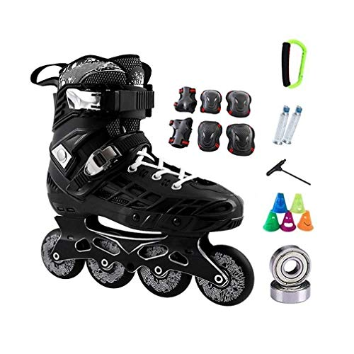 Best Review Of Sljj Comfortable Black Inline Skates Men with 6 Pieces of Protective Gear,Breathabl...