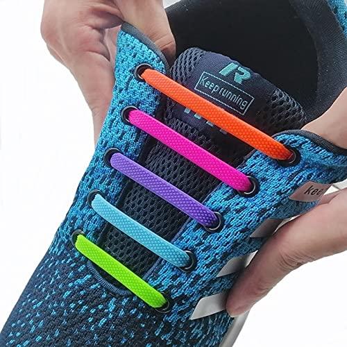 TOSISZ Cordones Elásticos De Silicona Moda Unisex Atlético Sin Cordones Cordón De Zapatos Todas Las Zapatillas De Deporte Se Ajustan Rápido Cordón De Zapatos 24 Colores