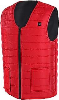 ZLYPSW Winter USB Heating Vest Smart Heating Cotton Vest Electr Skating Ski SportWaistcoat Jackets Men Warm Vest Women (Co...