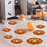 12pcs floor stickers new scary pumpkin eye pvc wall stickers halloween poster holiday night party decorations 2020 hot sale