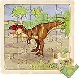Wild Republic 82781 - Puzzle de Madera de 20 Piezas, diseño de tiranosaurio Rex