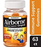 Airborne Zesty Orange Flavored Gummies, 63 count - 750mg of Vitamin C and Minerals & Herbs Immune Support (Packaging May Vary) ( Pack of 4)