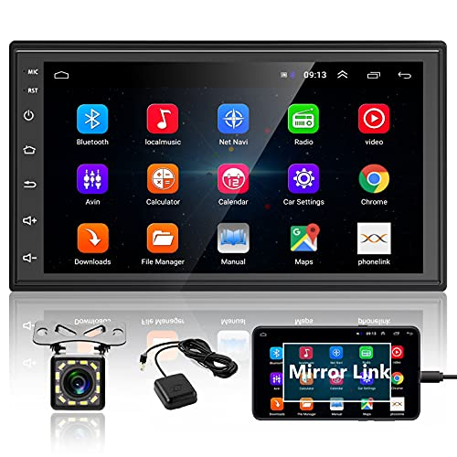 Podofo Double Din Android Car Stereo Radio with Bluetooth GPS 7 Inch HD Touchscreen in Dash Headunit...