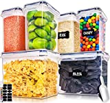 Large Airtight Food Storage Containers with Lids - Air Tight Containers for Food Flour Container...