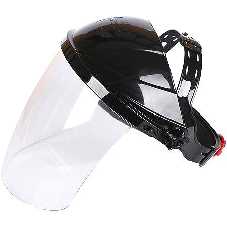 Masque de soudeur Face Shield, Qind Transparent objectif anti UV antichoc Sécurité Masque visage, Bouclier de sécurité protection des yeux Face Cover Visière