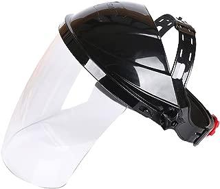 Welding Helmet Transparent Lens Anti-UV Anti-Shock Welding Helmet Face Shield Clear Safety Eye Protection Face Cover Visor(Transparent)