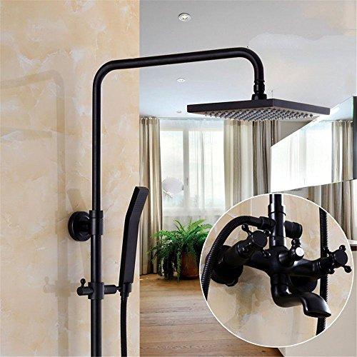 Lvsede Bad Wasserhahn Design Küchenarmatur Niederdruck Schwarzes Kupfer Duscharmatur Druck Wand-Lift DuschsystemA6