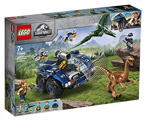 LEGO 75940 Jurassic World Ausbruch von Gallimimus und Pteranodon, Dinosaurier Figuren, Bauset für Kinder ab 8 Jahren