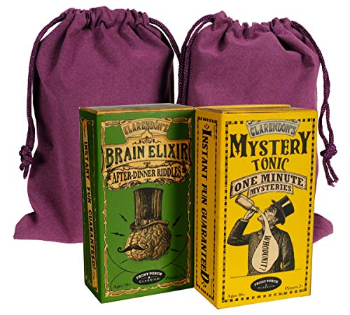 Mysteries & Riddles Entertainment Card Packs; with Purple Velveteen Storage Pouches; Bundled Items