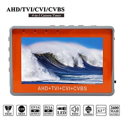 Buy 4.3 Inch Wrist CCTV Tester, ZUEXT 4 in 1 1080P Portable Camera Tester AHD TVI CVI CVBS Tester TF...
