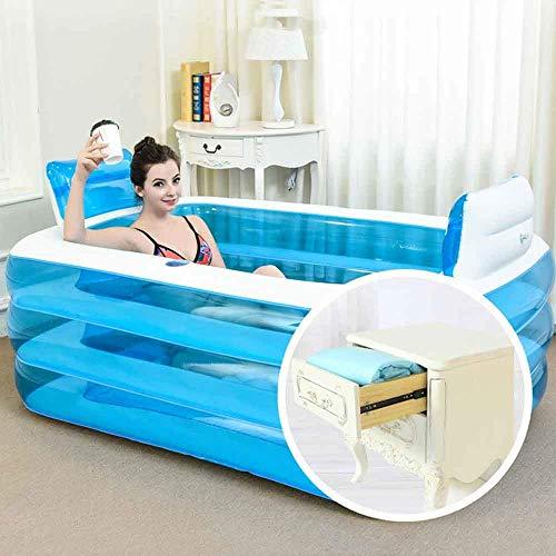 YLKCU Bañera Duet de 150x100x50cm, bañera Plegable para el hogar, bañera para Adultos, bañera de plástico, bañera de inmersión, bañera Inflable de Gran tamaño