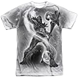 Masters of the Universe Skeletor B&W Adult T-Shirt White LG