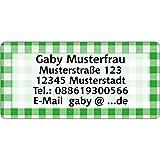 Adressaufkleber - Adressetiketten - Namensetiketten kariert - 210 Stück 54