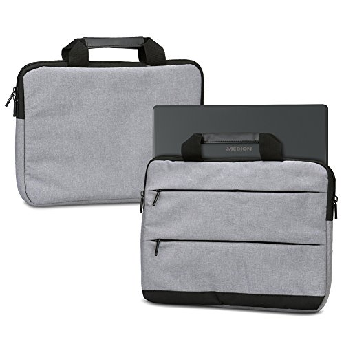 NAUC Laptoptasche Hülle kompatibel für Medion Erazer X17803 MD63530 Schutzhülle Sleeve Tasche Tragetasche Schutz Hülle 17.3 Zoll Cover, Farbe:Grau