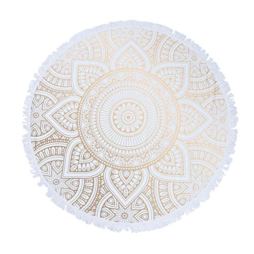 GARNECK Telo Mare Rotondo Asciugatura Rapida Telo Mare Mandala Modello Astratto Tappetino Yoga Telo Doccia Morbido Asciugamano da Bagno Coperta