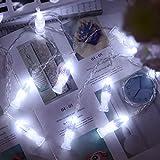 Batteriebetriebene Lichterketten, 5M 20 LED Kristallkugel Feenlicht mit 3 Modi für Hausschlafzimmer...