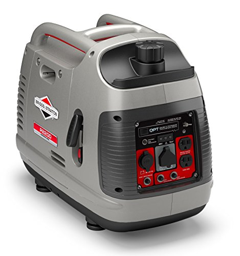 Briggs & Stratton P2200 Power Smart Series Inverter Generator with Quiet Power Technology and Parallel Capability, 2200 Starting Watts 1700 Running Watts