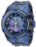 Invicta Reloj de cuarzo para hombre Reserve Bolt Zeus con correa de acero inoxidable, azul oscuro, 35 (Modelo: 35323)