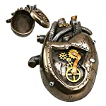 "nugroho_mys Steampunk Heart Jewelry Box 6"" Length Home Office Decor Fantasy Figurine Statue 6"