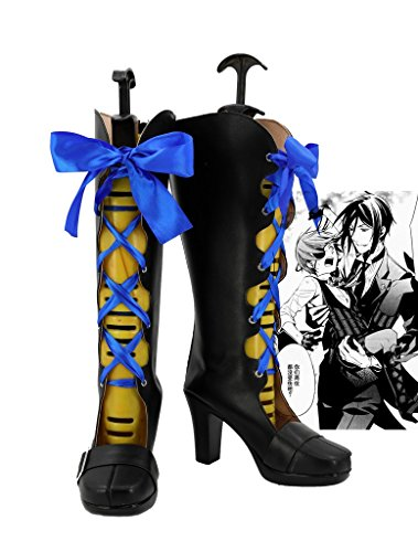 Black Butler Buch der Atlantic Ciel Cosplay Schuhe Stiefel Custom Made, damen, schwarz