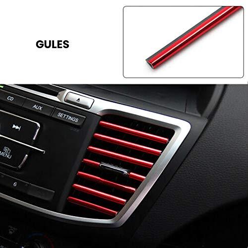 Scelet 10 Stücke Auto Auto Bunte Klimaanlage Luftauslass Dekoration Streifen Autozubehör