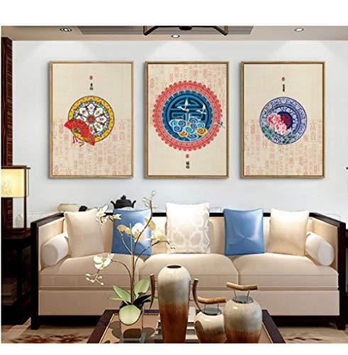 Auspicious Betekenis Decoratieve Schilderij Modulaire Beeld Muurschildering Canvas Schilderij voor Woonkamer Unframed 50 * 70cm