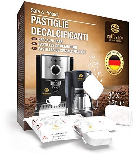 30 pastiglie decalcificanti XL Coffeeano per macchine da caffè superautomatiche e macchine da...