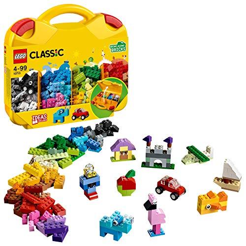 LEGO 10713 Classic Bausteine Starterkoffer - Farben sortieren, Spielzeugaufbewahrung, bunte Bausteine für Kinder