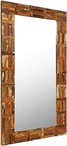 Festnight- Espejo de Pared de Madera 60x120 cm