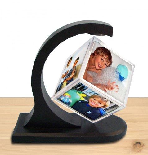 Schwebender Fotowürfel 3D - Magic Photo Cube für 6 Fotos (60x60 mm) aus Acryl