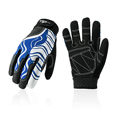 Vgo... Age 6-7 Kids Breathable Sailing, Boating, Rowing and Kayaking Gloves